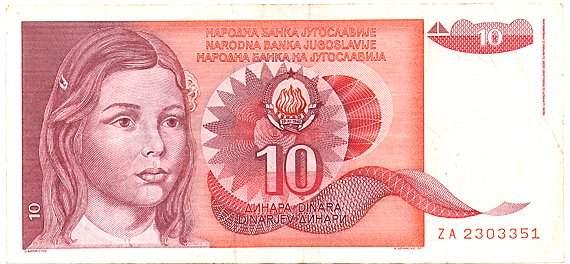 10 dinarjev (1990)